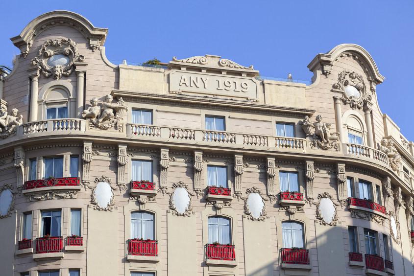 החזית של מלון אל פאלאס ברצלונה
