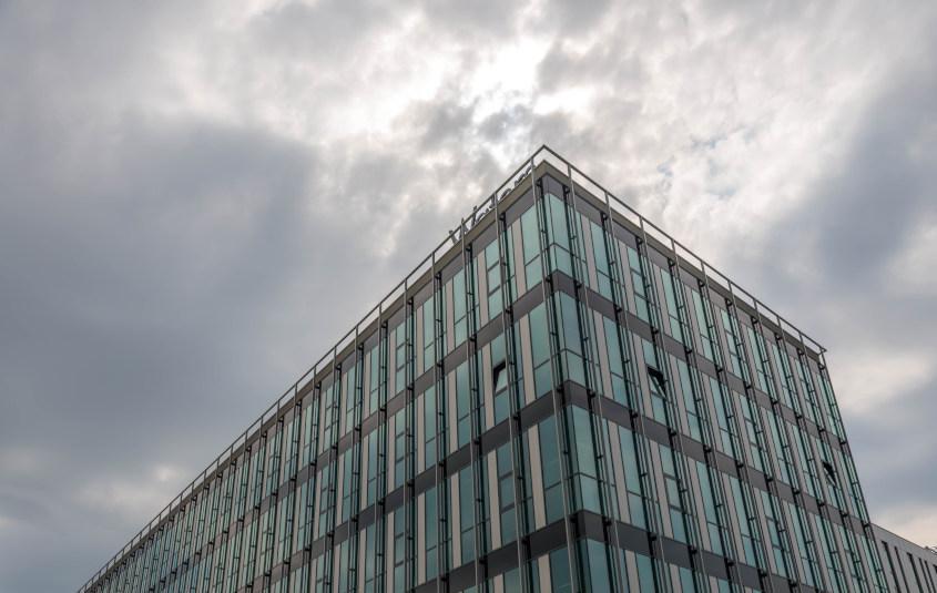 Brasov, Romania: Glass office building