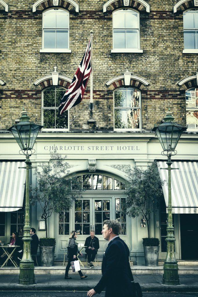 מלון רחוב שרלוט, לונדון. מלון יוקרה 5 כוכבים מעולה בלונדון.